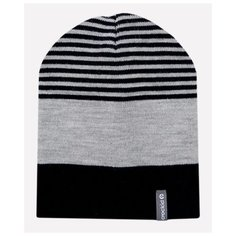 Шапка crockid размер 46-48, темно-синий/светло-серый меланж
