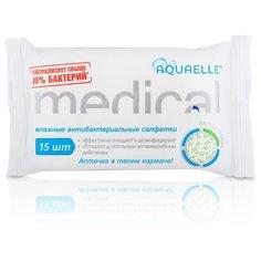Влажные салфетки Aquaelle антибактериальные, 15 шт.