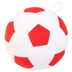 Погремушка Мякиши Мяч футбольный 439/440/445 белый/красный