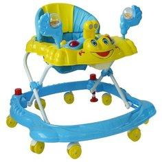Ходунки Наша игрушка Smile голубой/желтый