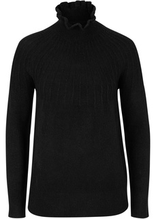Пуловер с узором в рубчик Bonprix