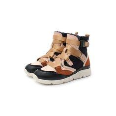 Высокие кроссовки из кожи Chloé