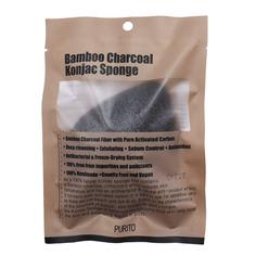 Спонж-конняку с древесным углём Purito Bamboo Charcoal Konjac Sponge
