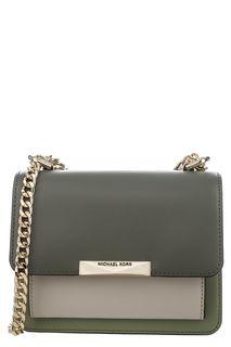 Маленькая кожаная сумка с двумя отделами Jade Michael Michael Kors