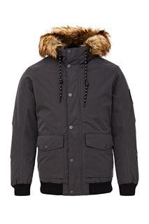 Короткая демисезонная куртка серого цвета Jack & Jones