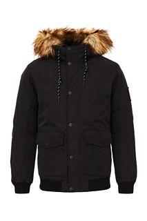 Короткая демисезонная куртка черного цвета Jack & Jones