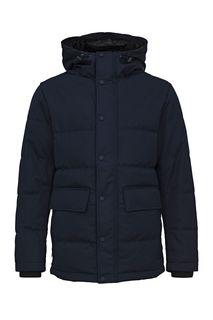 Удлиненная демисезонная куртка синего цвета Selected