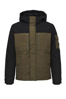 Демисезонная куртка с контрастным капюшоном Jack & Jones