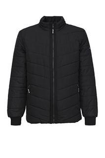 Демисезонная черная куртка с воротником-стойкой Mustang