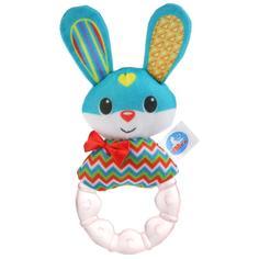 Умка Текстильная игрушка-погремушка с охлаждающим кольцом - Шустрый зайка
