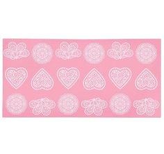 Kitchen Craft Силиконовый коврик-трафарет, 39х19.5 см, розовый SDILACEMAT13