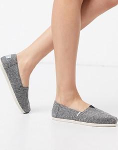 Серые туфли на плоской подошве из переработанных материалов неживотного происхождения TOMS Alpargata Earthwise-Серый