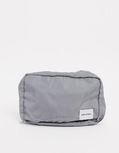 Несессер серого цвета ASOS DESIGN-Черный