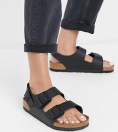 Черные сандалии из экологичных материалов Birkenstock Exclusive Milano-Черный
