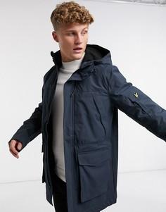 Куртка со вставками Lyle & Scott-Темно-синий