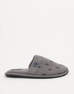 Серые тапочки с принтом логотипа Ralph Lauren-Серый
