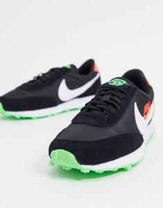 Кроссовки черного/зеленого цвета Nike Daybreak-Черный