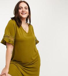 Зеленое платье-футболка Junarose-Зеленый