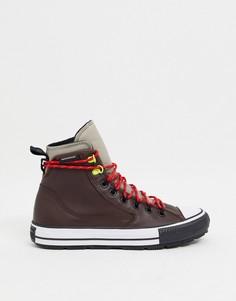 Коричневые водонепроницаемые кожаные ботинки Converse Chuck Taylor All Star All Terrain-Коричневый