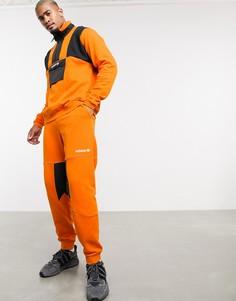 Оранжевые флисовые джоггеры adidas Originals adventure-Оранжевый