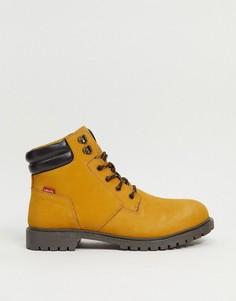 Светло-коричневые замшевые ботинки с маленьким логотипом Levis-Светло-коричневый Levis®