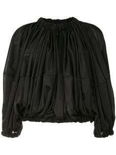 Comme Des Garçons блузка свободного кроя со сборками