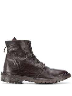 Moma ботинки в стиле милитари со шнуровкой