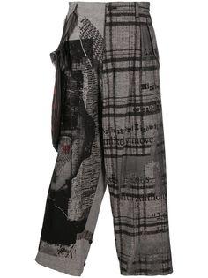 Yohji Yamamoto укороченные брюки в клетку