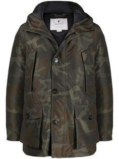 Woolrich куртка с камуфляжным принтом