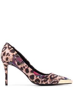 Versace Jeans Couture туфли с заостренным носком и леопардовым принтом