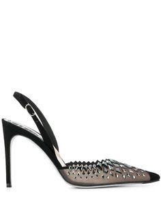 René Caovilla декорированные туфли с ремешком на пятке
