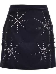 Pinko декорированная юбка