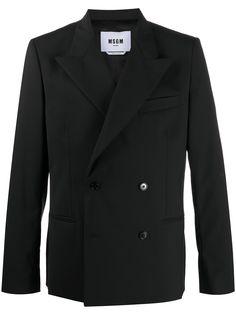MSGM двубортный пиджак