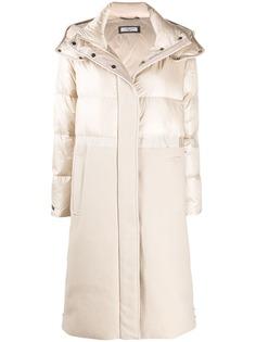 Peserico стеганое пальто с фетровой вставкой
