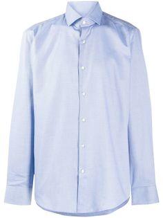 BOSS рубашка с длинными рукавами и принтом