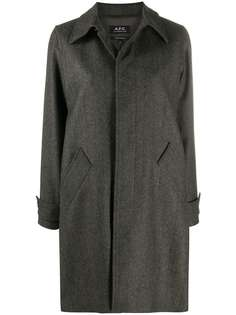 A.P.C. пальто с потайной застежкой