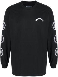 Pleasures футболка с длинными рукавами и логотипом