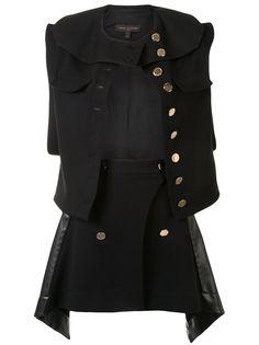 Louis Vuitton костюм из жилета и юбки
