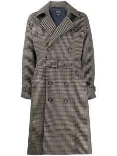 A.P.C. двубортное пальто