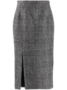 Rochas юбка-карандаш в ломаную клетку