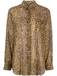 Junya Watanabe рубашка свободного кроя с леопардовым принтом