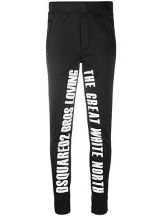 Dsquared2 лыжные брюки с надписью