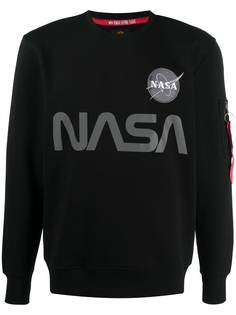 Alpha Industries толстовка со светоотражающим принтом NASA