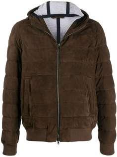 Herno куртка-бомбер с капюшоном