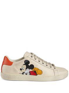 Gucci кроссовки Mickey Mouse из коллаборации с Disney