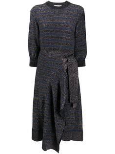 Chloé платье асимметричного кроя с эффектом металлик