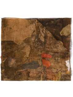Uma Wang шарф с эффектом потертости
