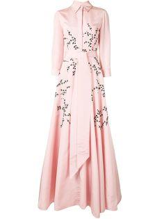 Carolina Herrera расклешенное вечернее платье с цветочным принтом