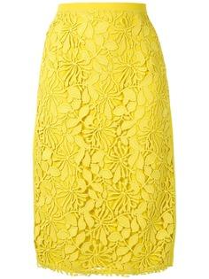 Nº21 юбка-карандаш с цветочным узором