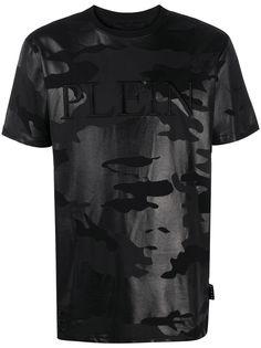 Philipp Plein футболка с камуфляжным принтом и вышивкой